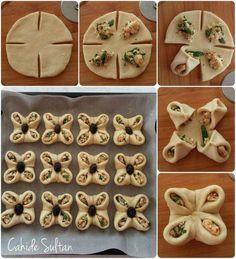 """Bismillâhil-lezî lâ yedurru me'asmihî şey un fil-erdi ve lâ fis-semâ. Plats Ramadan, Baking Recipes, Dessert Recipes, Bread Recipes, Easy Recipes, Bread Shaping, Bread Art, Good Food, Yummy Food"