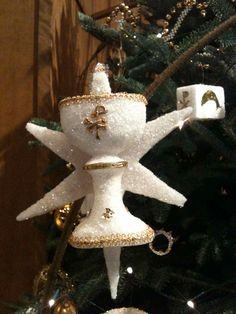 On a Chrismon tree the chalice represents the Sacrament of Communion. from Good Shepherd Lutheran Church