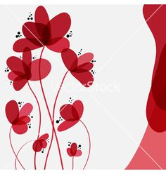 Floral card vector 1461886 - by Chantall on VectorStock®