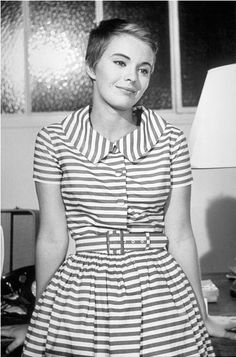 """Jean Seberg who played the famous role of Patricia in Jean-Luc Godard's film """"À bout de souffle""""."""