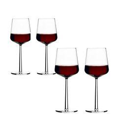 Essence rødvinglass fra Iittala, design av Alfredo Häberli. Serien med glass, vinglass, ch...