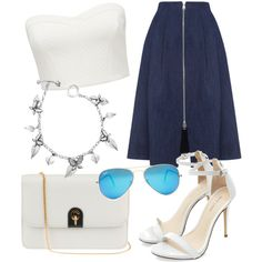 A beauty collage from May 2015 featuring blue sunglasses, silver bangles and leather handbags. Browse and shop related looks. Dior Forever, Forever New, Blue Sunglasses, Silver Bangles, Whistles, Leather Handbags, Christian Dior, Ray Bans, Polyvore