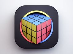 Rubik's Cube by Webshocker #Design Popular #Dribbble #shots