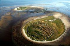 Nigehörn and Scharhörn islands, German Bight (DE) Islands, Coastal, Trail, Stage, German, Deutsch, German Language, Island, Scene