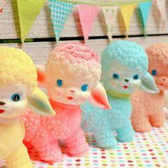 Sheep Illustration, Cute Animal Illustration, Nursery Toys, Rubber Doll, Baby Lamb, Cartoon Profile Pics, Baby Images, Vintage Nursery, Vintage Dolls