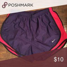 "Nike Tempo Running Shorts EUC. Nike running shorts. Has underpants inside. Measures 13"" from waist down. Nike Shorts"