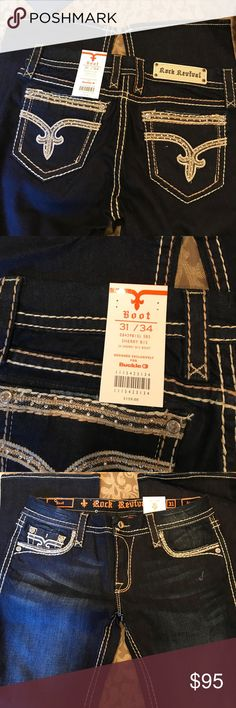 New With Tags Rock Revival Sherry Bootcut Jeans Awesome Rock Revival Boot Cut Jeans. 31/34 Rock Revival Jeans Boot Cut