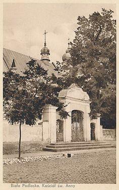 Biała Podlaska, 1920 - 1939 r. Kościół św. Anny, obecna ul. Warszawska.
