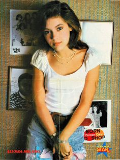 Alyssa Milano: Tiger Beat Star Poster Special Spring 1988 Alicia Milano, Alyssa Milano Young, Seinfeld, Allyssa Milano, Charmed Tv, Shannen Doherty, Stewart, Diane Lane, Royal Babies