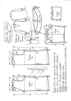 La blusa y los puños anchos | DIY - el moho, el corte y la costura - Marlene Mukai // Marine Martirosyan
