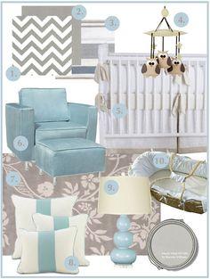 Blue and Neutral Nursery