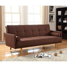 BestMasterFurniture Futon And Mattress Upholstery: Brown