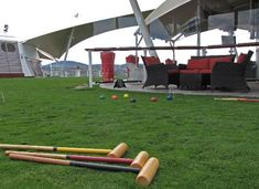 Lawn Games aboard Celebrity Solstice (cruise ship) in Hobart. Article and photo for Think Tasmania.