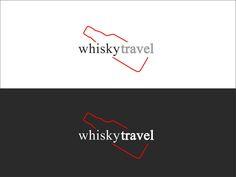 whisky travel logo çalışması