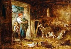 mother-and-child-in-a-barn-with-sheep-and-ducks.jpg 550×385 piksel
