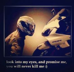 Motorcycle - sportbike - promises not to kill