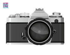 Nikon FM3. Made in Adobe Illustrator