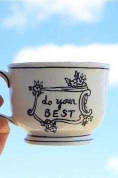 """""""Do your best"""" Crowned Leaf Mug #AnthroFave #anthropologie"""