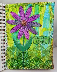 Art By Wanda: Twirl a journal page