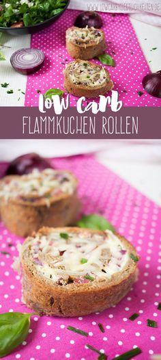 Low Carb Flammkuchen Rollen www.lowcarbkoestlichkeiten.de