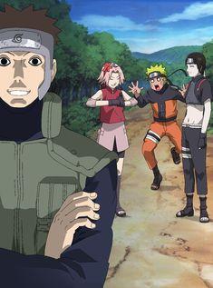 Yamato, Sai, Naruto and Sakura the New Team 7 Kakashi Itachi, Yamato Naruto, Naruto Team 7, Naruto Sasuke Sakura, Sakura Haruno, Gaara, Anime Naruto, Manga Anime, Naruto Shippuden Anime