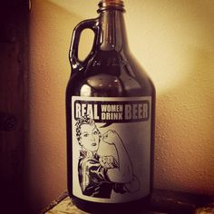 Rosie the riveter Growler Retro Vintage by VitalSignandApparel