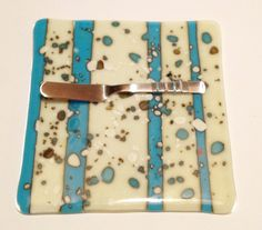 Fused Glass cheese tray or hot plate by SparksPainInTheGlass, $18.00