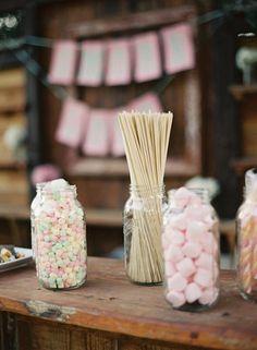 Pastel s'more buffet! so cute! Photo by Kurt Boomer Photo