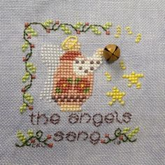 "Ornament #13-finished 13Feb13-from Shepherds Bush ""the Angels sang"" from Just Cross Stitch ornament issues..."