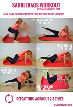 Saddlebags workout! Best exercises for saddlebags :) Slim your legs and butt.