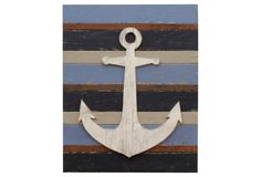Large Pallet Anchor Wall Art