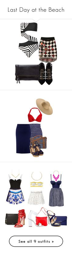 """Last Day at the Beach"" by fashionbrownies ❤ liked on Polyvore featuring Boohoo, Chicnova Fashion, Sole Society, Retrò, John Lewis, Mantaray, vintage, CHROMAT, Salinas and Tory Burch"