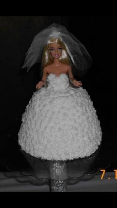 Bride Barbie Cake... Great Bridal Shower Idea