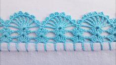 Crochet Edging Patterns, Crochet Lace Edging, Crochet Borders, Crochet Doilies, Crochet Stitches, Crochet Diy, Crochet Hats, Filet Crochet, Crochet Decoration