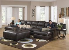 Jackson Lawson 3 Piece Sectional (LSF Chaise-Armless Sofa-RSF Chaise) in Godiva