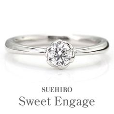 Sweet Engage プラチナ ダイヤモンド 婚約指輪 エンゲージリング 花びら(婚約指輪) ID3790