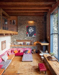 Love this funky living room