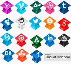 preview Graduation Hats Social Icons