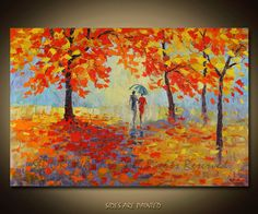 Painting Oil ORIGINAL contemporary fine art textured by sidorovart, $395.00