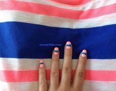 WOW Polish: Striping Tape Nail Art inspired by an A&F Shirt