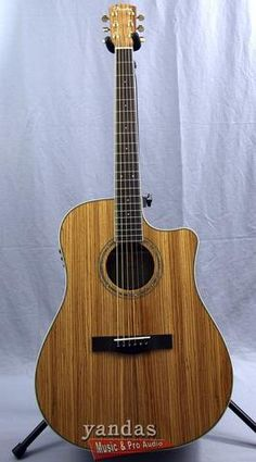 Clearance | Fender CD-220CE Zebrano Wood Acoustic-Electric Guitar