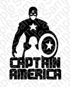 Captain America Silhouette Shirt SVG and DXF by BrocksPlayhouse