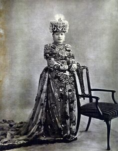 Wife of Maharaja Sri Teen Chandra Shamsher Jang Bahadur Rana - c.1910