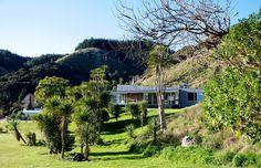 Macrocarpa clad bach, Waipatiki Beach - our home away from home.