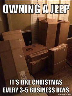 Owning a Jeep. It's like Christmas every business days Jeep Wrangler Forum, Jeep Wrangler Unlimited, Forum Jeep, Jeep Cj7, Jeep Jeep, Jeep Rubicon, Jeep Quotes, Truck Quotes, Funny Quotes