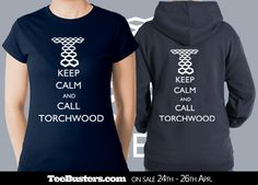 Keep Calm Call Torchwood limited edition tee & zoodie by thischarmingfan on sale on TeeBusters.com April 24th-26th!   Tees only €8.99/$10.95/£7.49!!