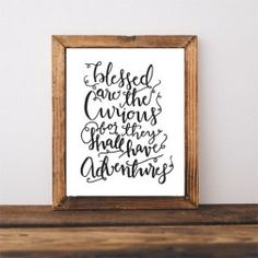B&W Hand Lettered Prints $9.99