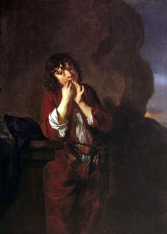 Peter Lely (1618 – 1680, English), Boy Playing A Jew's Harp