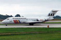 Manchester Douglas SAS-Scandinavian Airlines System OY-KID scanned from print Mcdonald Douglas, Air Festival, Vintage Air, Air Travel, Military Aircraft, Sweden, Vikings, Scandinavian, Jet