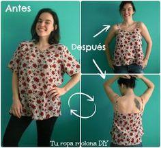 DIY: cambia una blusa normalita por una blusa de volantes. Incluye tutorial para patrón.